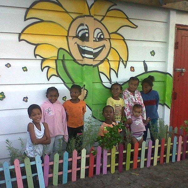 Sunflower vegetable garden